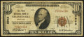 National Bank Notes:Maryland, Grantsville, MD - $10 1929 Ty. 1 The First NB Ch. # 5943. ...