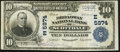 National Bank Notes:Pennsylvania, Scottdale, PA - $10 1902 Plain Back Fr. 633 The Broadway NB Ch. # (E)5974. ...