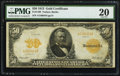 Large Size:Gold Certificates, Fr. 1199 $50 1913 Gold Certificate PMG Very Fine 20.. ...