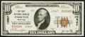 National Bank Notes:Maryland, Parkton, MD - $10 1929 Ty. 2 The First NB Ch. # 13867. ...