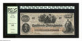 Confederate Notes:1862 Issues, T41 $100 1862. A center fold and a touch of more handling isdetected on this C-note. PCGS Choice About New 55....