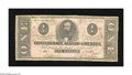 Confederate Notes:1862 Issues, T55 $1 1862. A large water stain is found on this Ace that stillhas some snap. Very Good-Fine....