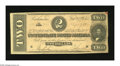 Confederate Notes:1864 Issues, T70 $2 1864. This is the orange tint variety. Very Fine....