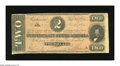 Confederate Notes:1864 Issues, T70 $2 1864. This note is of the scarcer orange-red tint variety. Fine....