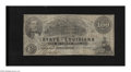 Obsoletes By State:Louisiana, Shreveport, LA- State of Louisiana $100 Mar. 10, 1863. This is a scarce state issue with this example sporting light folds a...
