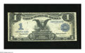 Error Notes:Large Size Errors, Fr. 227 $1 1899 Silver Certificate Inverted Back Fine. Black Eagle Inverts are popular and scarce. This is the first time we...