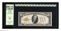 Small Size:Gold Certificates, Fr. 2400 $10 1928 Gold Certificate. PCGS About New 50.. The orange ink is dark on this lightly circulated attractive $10 Gol...