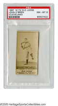 Baseball Cards:Singles (Pre-1930), 1887 N172 Old Judge John O'Brien Cleveland PSA NM-MT 8. This cardis one of only two ever graded by PSA with none ever gradi...