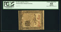 Colonial Notes:Pennsylvania, Pennsylvania April 25, 1776 1s PCGS Apparent Choice About New 55.....