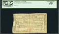 Colonial Notes:New Hampshire, New Hampshire November 3, 1775 40s PCGS Extremely Fine 40.. ...