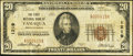 National Bank Notes:Pennsylvania, Tamaqua, PA - $20 1929 Ty. 1 The First NB Ch. # 1219. ...