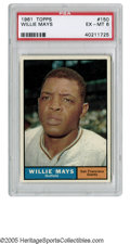 Baseball Cards:Singles (1960-1969), 1961 Topps Willie Mays #150 EX/MT PSA 6. Strong example has goodcentering with a clean surface and card back. ...