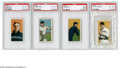 Baseball Cards:Lots, 1909-11 T206 PSA-Graded Lot of 4. This four card lot includes LouFiene VG-EX 4, Russ Ford VG-EX 4, Jim Scott EX 5 (MK), and...