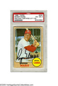 Autographs:Sports Cards, 1968 Topps Roger Maris PSA VG-EX 4, Signed. The card may be gradedVG-EX, but the black sharpie signature from the 1961 hom...