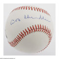 Autographs:Baseballs, A.B. Chandler Single Signed Baseball. A flawless blue ink signatureplaced slightly left of sweet spot on an OAL (Giamatti)...