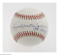 Autographs:Baseballs, Reggie Jackson Full Name Single Signed Baseball. From his personalmemorabilia company comes this rare Mr. October single, ...