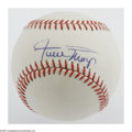 Autographs:Baseballs, Willie Mays Single Signed Baseball. ONL (White) baseball offers10/10 sweet spot blue ink signature from the Giants Hall of ...