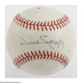 Autographs:Baseballs, Willie Stargell Single Signed Baseball. ONL (Feeney) baseball thatis lightly toned and offers 10/10 black ink sweet spot si...