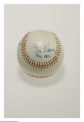Autographs:Baseballs, 1976 Bill Veeck Single Signed Baseball. The P.T. Barnum ofbaseball, Veeck was responsible for everything from midget pinch...