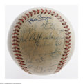 Autographs:Baseballs, 1950 Cincinnati Reds Team Signed Baseball. ONL (Frick) ball offersthirty-one signatures from the full roster of Reds, incl...
