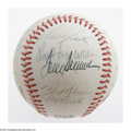 Autographs:Baseballs, 1980 Cincinnati Reds Team Signed Baseball. Much of the Big RedMachine remains active on this ONL (Feeney) ball, including ...