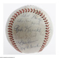 Autographs:Baseballs, 1962 New York Mets Team Signed Baseball. The inaugural squad!Though one of the worst in League history, this squad will ...