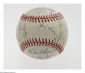 Autographs:Baseballs, 1975 New York Mets Team Signed Baseball. The single-season serviceof Roy McMillan as manager assures 1975 vintage of this ...