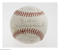 Autographs:Baseballs, 1962 New York Yankees Team Signed Baseball. Twenty-three strong(8/10 and better) signatures from this World Championship s...