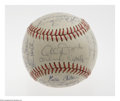Autographs:Baseballs, 1962 San Francisco Giants Team Signed Baseball. A rookie Gaylord Perry signature starts out the Cooperstown parade, with Ma...