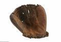Autographs:Others, Lou Boudreau Signed Personal Model Glove. Wilson Lou Boudreau ballhawk model glove is signed in faint blue ink and comes wi...
