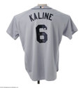 Autographs:Jerseys, Al Kaline Signed Jersey. Exact in every detail to jerseys worn bythe modern Detroit Tigers, this jersey is the style Kalin...
