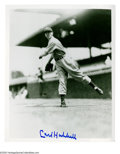 Autographs:Photos, Carl Hubbell Signed Photograph. Classic 8x10 black and white imageof New York Giant Hall of Famer Carl Hubbell signed in pe...