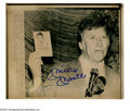Autographs:Photos, Mickey Mantle Signed Transmitted Wire Image. This 1983 pressconference black and white photo signed in 10/10 blue sharpie m...