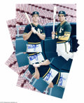 Autographs:Photos, McGwire & Canseco Signed Photographs Lot of 4. We'll refrainfrom any jokes, and just note that each slugger pictured has s...