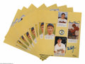 Autographs:Others, Mark McGwire & Frank Robinson Signed Sheets. Six sheets featuring images of this hard-slugging pair are signed by each in 1...
