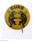 Baseball Collectibles:Others, 1929 Chicago Cubs Pinback. Highly collectible pin offers finegraphics and unlimited eye appeal, with the vast majority of ...
