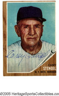 Baseball Cards:Lots, 1940-1965 Casey Stengel Baseball Cards Group Lot of 46 with 1 Signed Card from the Casey Stengel Collection. Apparently kept...