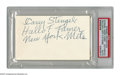 """Autographs:Index Cards, 1970's Casey Stengel Signed Index Card. Inscription on the blankside of an index card reads """"Casey Stengel, Hall of Famer,..."""