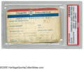 Autographs:Others, Casey Stengel Signed Health Insurance Card from the Casey Stengel Collection. Well-worn card offers strong blue ink signatu...