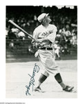 Autographs:Others, Casey Stengel Double-Signed Magazine Cut from the Casey Stengel Collection. Pair of photographic images on front and back o...