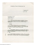 Autographs:Others, 1964 Casey Stengel Signed Contract from the Casey Stengel Collection. Three-page contract for Stengel to appear in Ford aut...