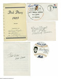 Autographs:Others, Casey Stengel Autographs Lot of 4 from the Casey StengelCollection. Present are four various pieces signed in 10/10 inkby...