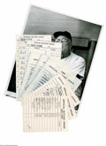 Baseball Collectibles:Others, Casey Stengel Line-Up Cards Lot of 8 from the Casey StengelCollection. Straight from the Hall of Fame manager is this grea...