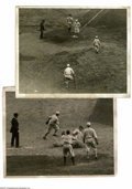 Baseball Collectibles:Photos, 1922-23 World Series Wire Photographs Lot of 2. Pair of news photoscapture the October action of these Subway Series betwe...