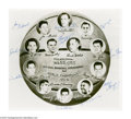 Basketball Collectibles:Others, 1955-56 Philadelphia Warriors Team Signed Photograph. Tough early NBA collectible pictures the World Champs in individual v...