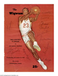 Basketball Collectibles:Others, 1956 Philadelphia Warriors Team Signed Program. Tough early NBAprogram was issued for a December 12, 1956 game between the...