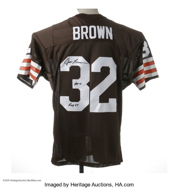 best website b16c4 b5ae0 Jim Brown Signed Jersey. Perfect replica of the Hall of Fame ...