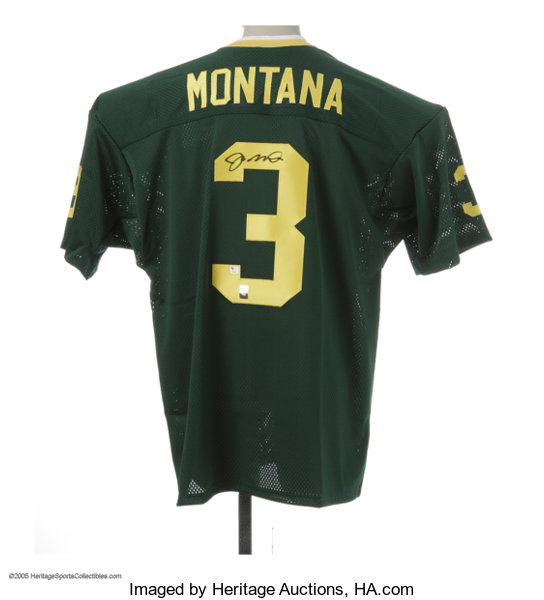 the latest 2af03 cdee8 Joe Montana Signed Notre Dame Jersey. Fine replica of his ...