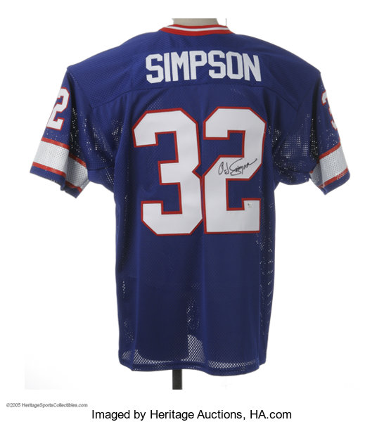super popular be022 7946f O.J. Simpson Signed Jersey. One hundred years from now this ...