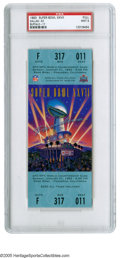 Football Collectibles:Tickets, 1993 Super Bowl XXVII Full Ticket PSA Mint 9. Troy Aikman leads the Dallas Cowboys over the Buffalo Bills in a 52 to 17 triu...